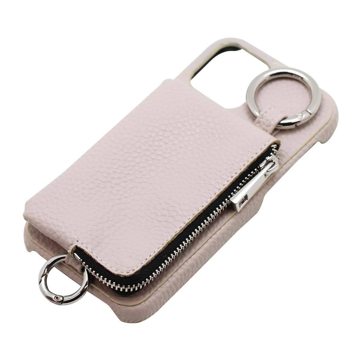 iPhone 12/12Pro用ポケット付き ショルダーケース